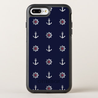 Red White And Blue Anchor Pattern OtterBox Symmetry iPhone 8 Plus/7 Plus Case