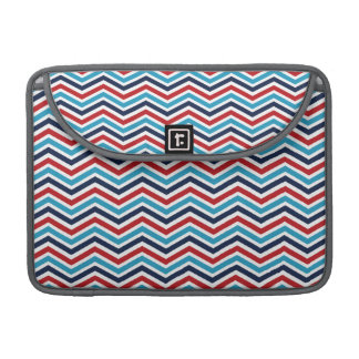 Red, White, and Blue Chevron Pattern Sleeve For MacBooks