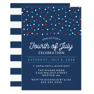 Red White and Blue | Fourth of July Celebration Card