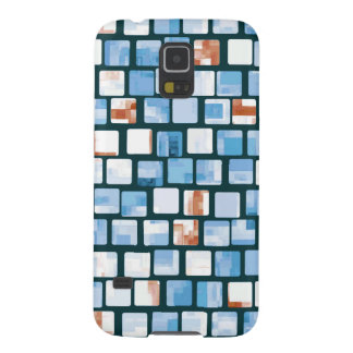 Red White and Blue Mosaic Pattern Cases For Galaxy S5