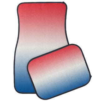 """""""Red White And Blue Ombre"""" Car Mat"""