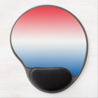 """""""Red White And Blue Ombre"""" Gel Mouse Pad"""