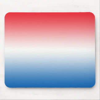 """""""Red White And Blue Ombre"""" Mouse Pad"""