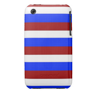 RED, WHITE AND BLUE! (Patriotic stripes design) ~ iPhone 3 Cover