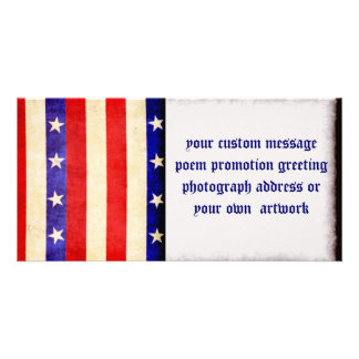 Red White and Blue Picture Card