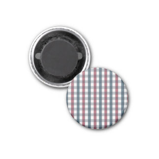 Red White and Blue Plaid Pattern Refrigerator Magnets