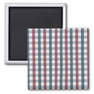 Red White and Blue Plaid Pattern Magnet