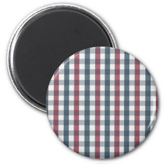 Red White and Blue Plaid Pattern Magnets