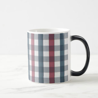 Red White and Blue Plaid Pattern Coffee Mugs