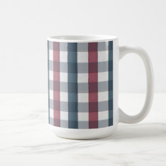 Red White and Blue Plaid Pattern Mug