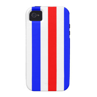 Red, white and blue stripes Case-Mate iPhone 4 cases