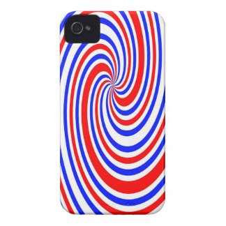 Red white and blue swirl Case-Mate iPhone 4 case
