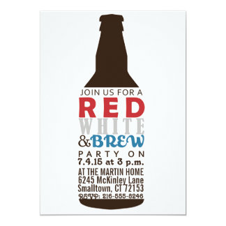 Red, White and Brew Party Invitation