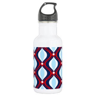 Red, White, & Blue 70s Retro 532 Ml Water Bottle