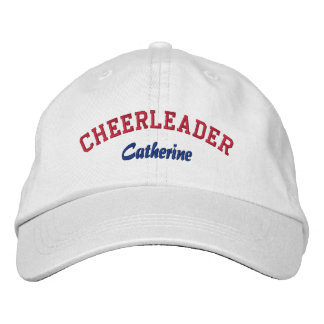Red, White, & Blue Custom Cheerleader's Hat Embroidered Hats