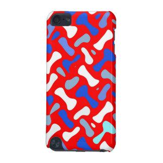 Red, white, & blue design, iPod hard shell case