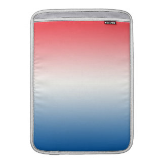 Red White & Blue Ombre MacBook Air Sleeves