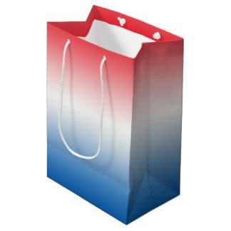 Red White & Blue Ombre Medium Gift Bag