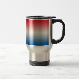 Red White & Blue Ombre Travel Mug