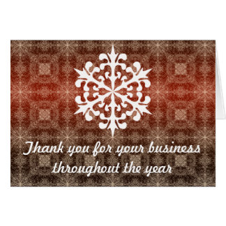 Red & White Business Holiday Thank You Note Card
