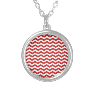 Red White Chevron. Zigzag Pattern Custom Jewelry