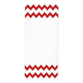 Red White Chevrons Rack Card