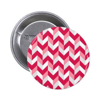 Red White Pink Herringbone Chevron Zigzag Pattern Pins
