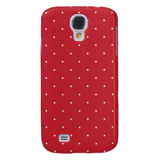 Red & White Polka Dots Galaxy S4 Case