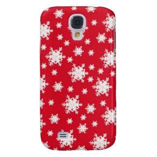 Red & White Snowflake Design Galaxy S4 Case