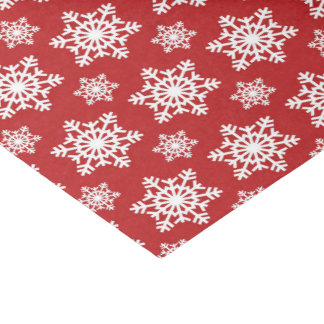 Red white snowflake pattern party tissue tissue paper