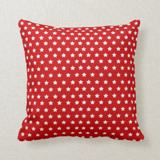 Red White Stars 4th July Independence Day Cushion