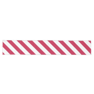 Red White Stripes Patriotic Wide Long Table Runner