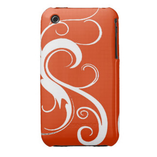 Red White Swirls Case Case-Mate iPhone 3 Case