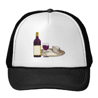 RED WINE  AND  CHEESE, CHEESE LOVERS GIFT CAP