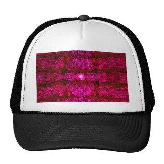 Red Wine Futurism Modern Textured Pattern Design Mesh Hat