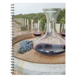 Red Wine In Vineyard Notebook