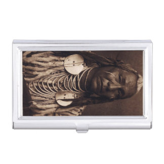 Red Wing Crow Indian Vintage Native American Business Card Cases