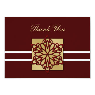 red winter wedding Thank You Announcement