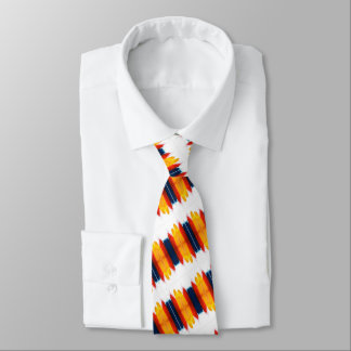 Red Yellow And Blue Stripes On White Tie