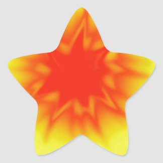 Red, Yellow and Green Tie Dye Star Stickers