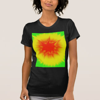 Red, Yellow and Green Tie Dye Tee Shirt