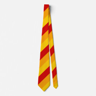 Red, Yellow and Orange Stripes Tie