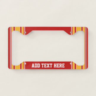 Red Yellow Gold Football Jersey Custom Name Number