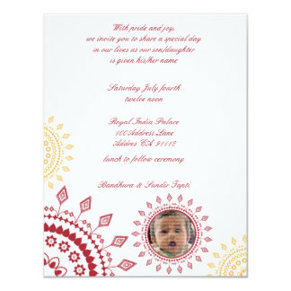 Red & Yellow Namkaran Baby Naming Invitations