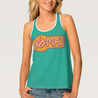 Red & Yellow No-Maj Badge Tank Top