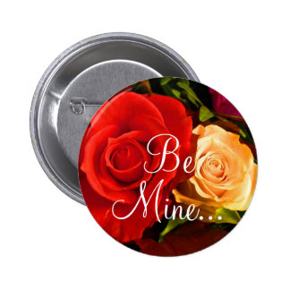 Red Yellow Rose II Button Pinback Buttons