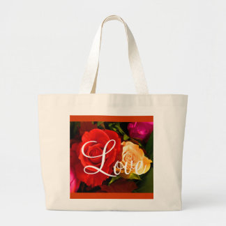 Red Yellow Rose Love II Bag - Customizable Canvas Bags