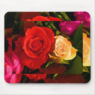 Red Yellow Rose Mouse Pads