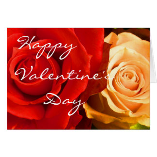 Red Yellow Rose Valentine III Card Greeting Cards