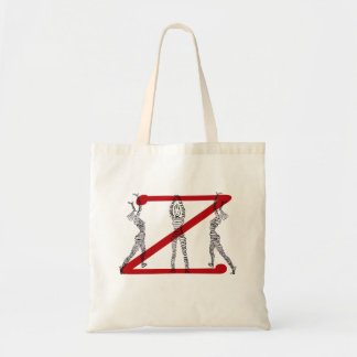 Red Z Tote Budget Tote Bag